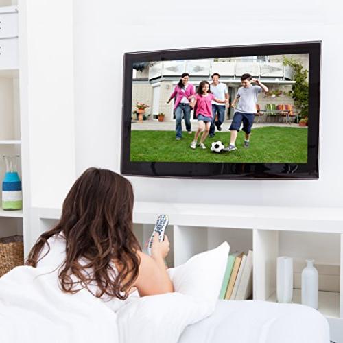 "Everstone Mount Fit 26""-60"" TVs Articulating Arm Full Motion Tilt Bracket Plasma Flat Screen TV,Up 400mm,HDMI Cable"