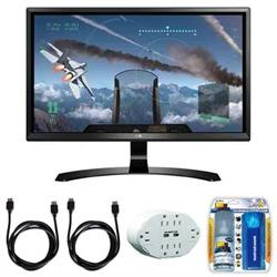 "LG 24"" 4K UHD FreeSync IPS Monitor 24UD58-B with Accessory H"
