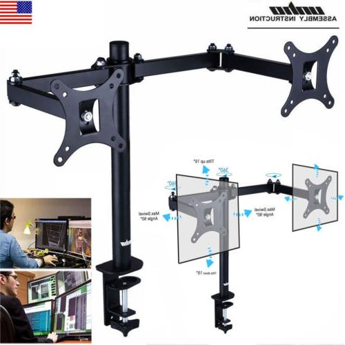 UNHO Dual Monitor Desk Mount Stand Heavy Duty Fully Adjustab
