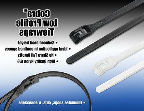 usa made low profile cobra cable ties