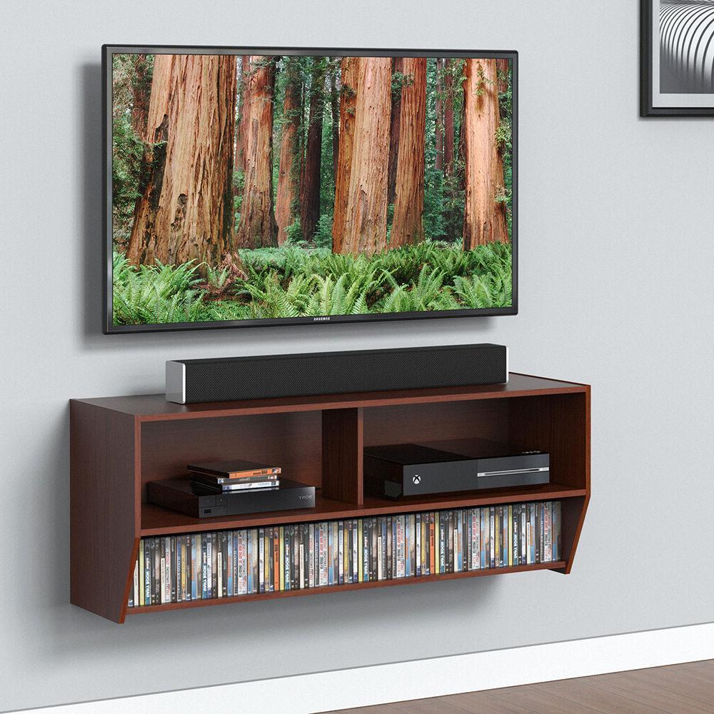 Wall Mount Media Console Entertainment Center TV Stand Deskt