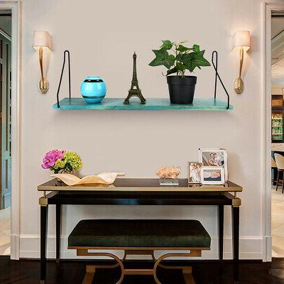Wall Shelf Wooden Floating Shelving Mounted Rack Home