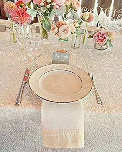 B-COOL Rectangle sequin tablecloth sequins sparkly fabric for Wedding Banquet use
