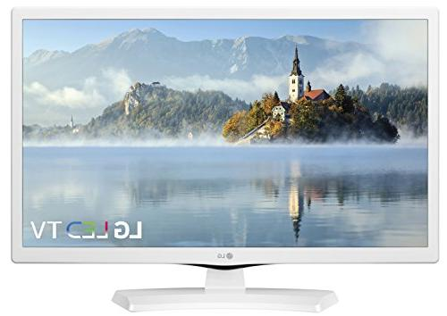 "New LG 24"" HD White TV 24 inch 1366x768 Tiple XD Engine HDMI"