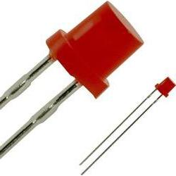 LED wired Red Cylindrical 3 mm 0.7 mcd 25 mA 2.2 V Panasonic