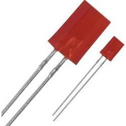 LED wired Red Rectangular 2 x 5 mm 0.4 mcd 25 mA 2.2 V Panas
