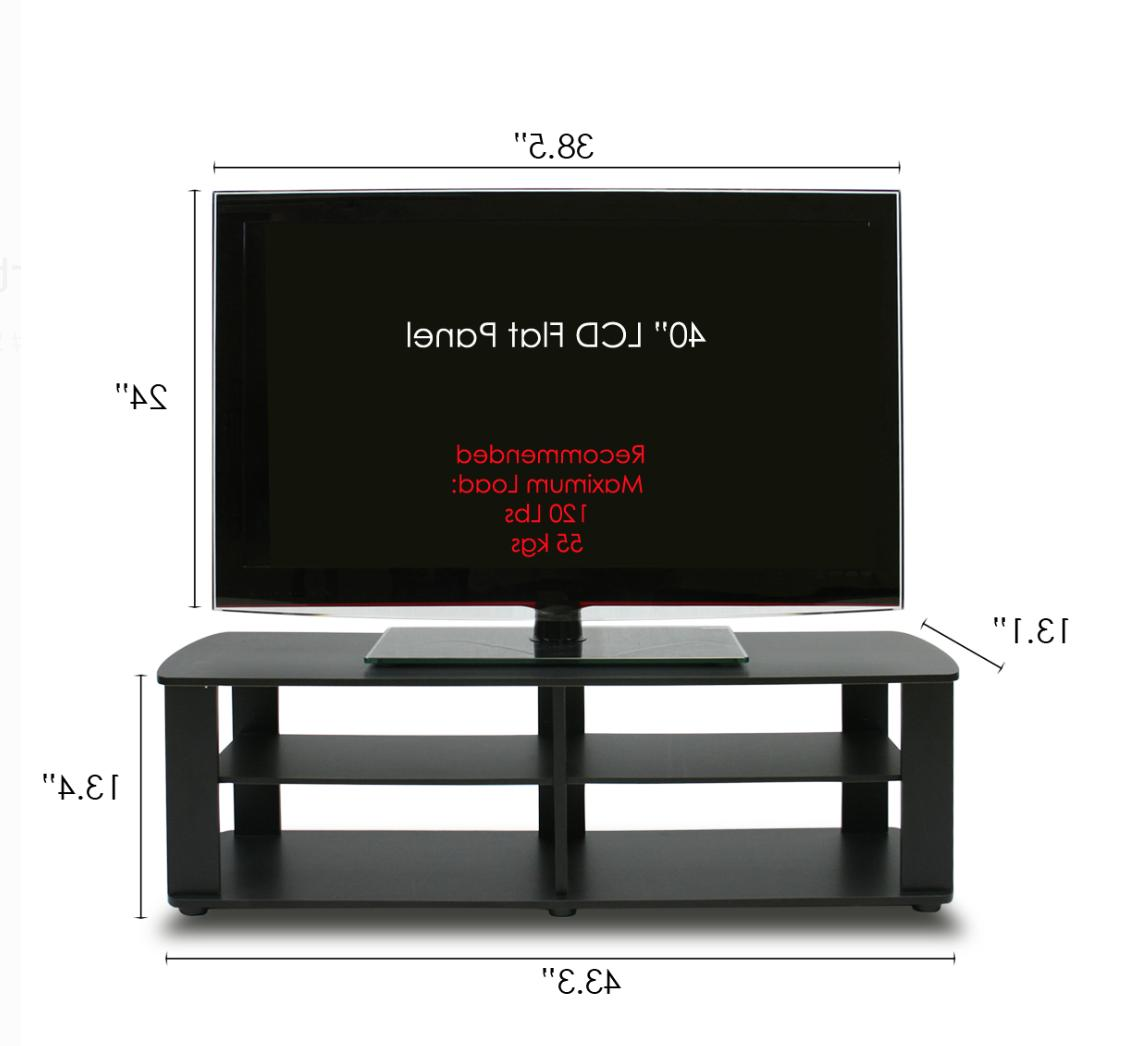 Wood TV Entertainment Stand Universal Low TV