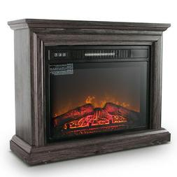 Large Room Electric Quartz Infrared Fireplace Heater Deluxe