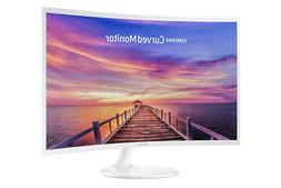 Samsung LC32F391FWNXZA 32-Inch Curved Monitor, White