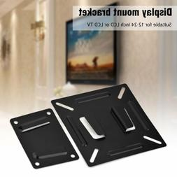 LCD LED Monitor TV Bracket Wall Mount Stand Holder For 12-24