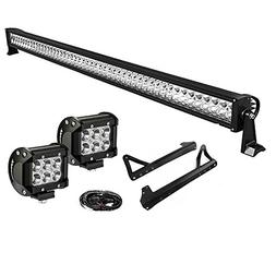 LED Light Bar YITAMOTOR 50 Inch Combo Light Bar + 2 X 4 Inch