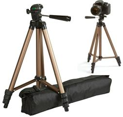 50-Inch Lightweight Adjustable Tripod with Bag Camera Photo