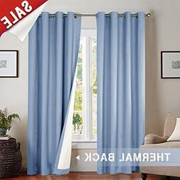 Lined Thermal Moderate Blackout Curtains, 63 Inches Long Lig
