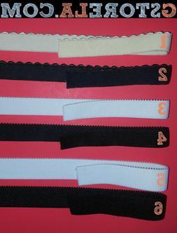 Lingerie Plush Elastic Bra Strap Old Lace Black & White, 3/4