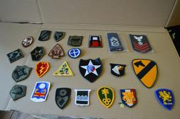 Lot of 50 Different Unit Patches, Insignia, Army, Navy, Air
