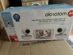 Motorola MBP50G2 5 inch Portable Video Baby Monitor 2 Camera