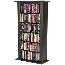 Venture Horizon Media Storage Tower-Regular Single, Black -