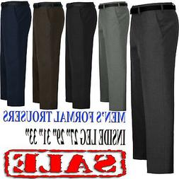 MEN TROUSERS OFFICE BUSINESS WORK FORMAL CASUAL SMART BIG PL