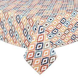 Mesa Diamond 60-Inch x 84-Inch Indoor/Outdoor Oval Tableclot