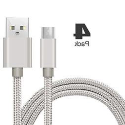 Micro-USB Cable,iBarbe Nylon Braided 5FT for Amazon Kindle F