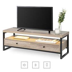Best Choice Products Mid-Century Modern Bluetooth TV Stand E