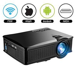 1500Lumens Mini Projector, Mengyasi Portable Home Theather V