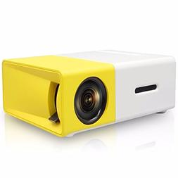 Mini Projector,ELEGIANT Portable 1080P LED Projector Outdoor