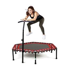 Safly Zone Mini Trampoline for Kids Adults with Adjustable H
