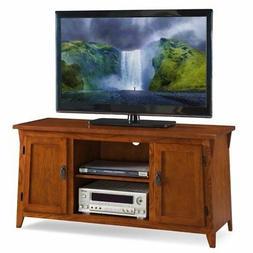 "Mission Oak Two Door 50 "" Tv Console W/Open Component Bay Ru"