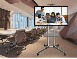 Mobile TV Cart Stand Television Stands Wheels Video shelf fo