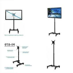 Mount-It! Mobile TV Stand with Wheels, Adjustable Height Rol