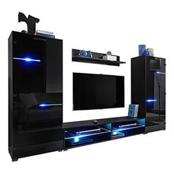 MEBLE FURNITURE & RUGS Modern Entertainment Center Wall Unit