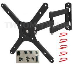 FULL MOTION TILT & SWIVEL LED LCD TV WALL MOUNT BRACKET 26 2
