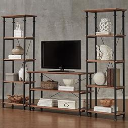 Myra Vintage Industrial Modern Rustic 3-piece TV Stand Set b