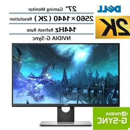 "New Dell 27"" 2K 144Hz 1ms QHD 2560x1440 Gaming LED Monitor N"