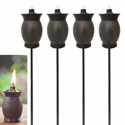 New Tiki 4-pack 3-in-1 Torches 8 Inch Outdoor Table Lamp 50