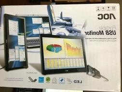 """New AOC e1649FWU 15.6"""" Portable LED USB Monitor *New"""