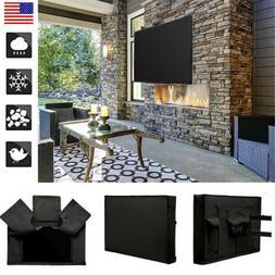 New TV Cover Outdoor Black Weatherproof Protector Storage Ba