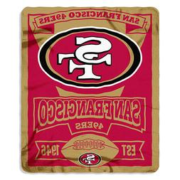 NFL SF  49' ers,   50 inch x 60 inch Fleece Throw, Multicolo