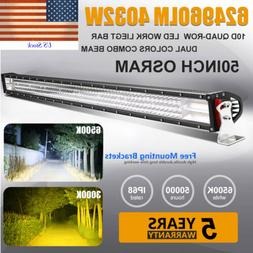 OSRAM 50Inch 4032W 4-ROW Led Light Bar Spot Flood Combo Offr