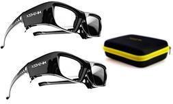 "PANASONIC compatible active 3D Glasses Hi-SHOCK ""Black Diamo"