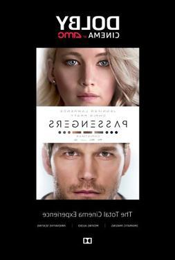Passengers 2016 Dolby Cinema AMC Exclusive 27x40 Movie Poste