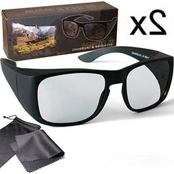 2x Passive 3D Overglasses fit over your optical glasses - Fo