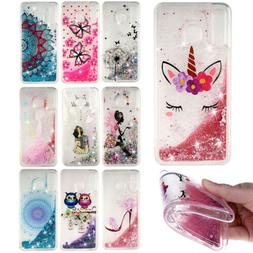 Patterned TPU Glitter Liquid Soft Case Cover For Samsung M30