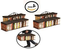 Globalis Portable DVD Storage Bag, 4-Pack Stores 40 DVDs Eac