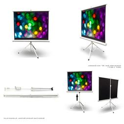 Portable Projector Screen Tripod Stand Mobile Projection Lig