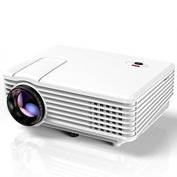 Projector, TENKER RD805 Mini Projector, Home Cinema HD LED V