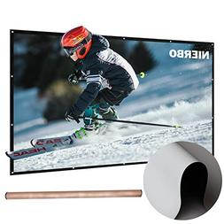 50 inch Projector Screen Rolled Up Portable Screen Diagonal