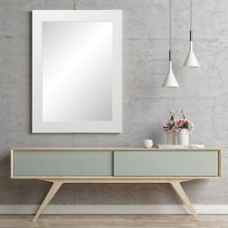 BrandtWorks Pure White Entry Way Framed Wall Mirror 32''x 36