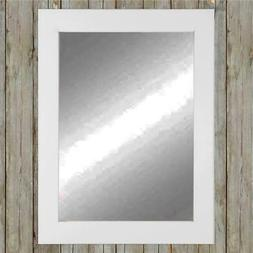 American Made Pure White Framed Vanity Wall Mirror 32 x 50 i